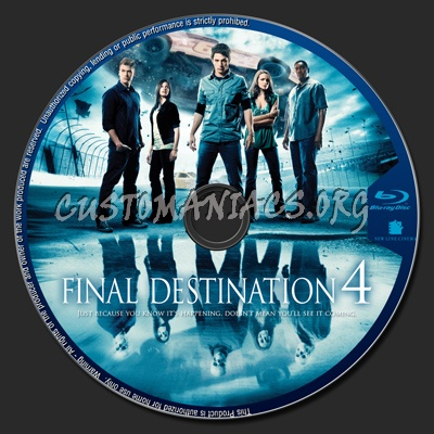 The Final Destination blu-ray label