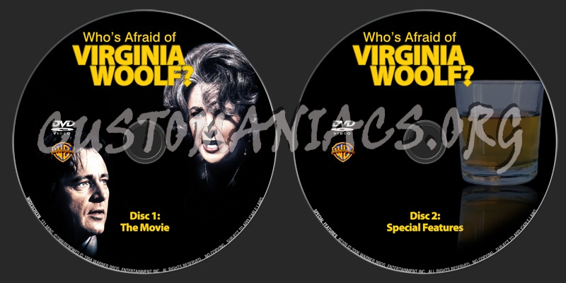 Who's Afraid Of Virginia Woolf? dvd label