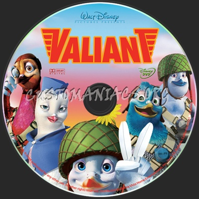 Valiant dvd label