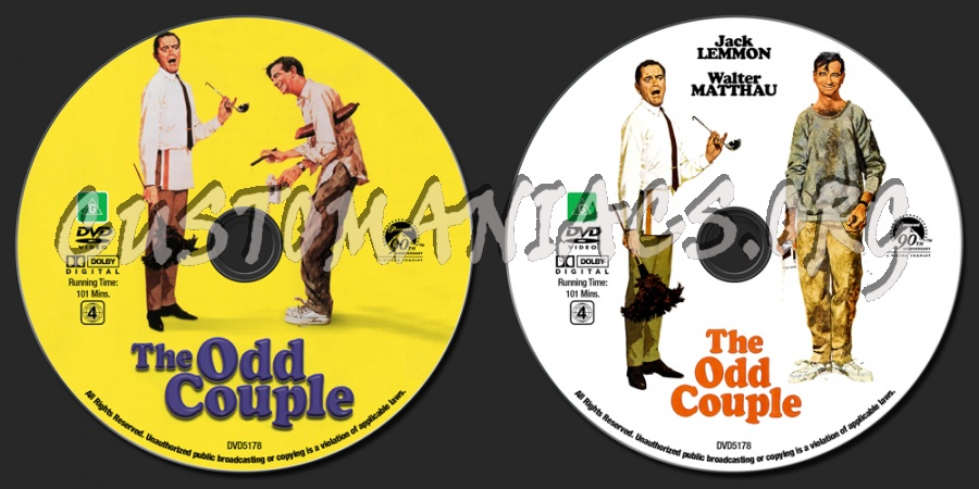 The Odd Couple dvd label