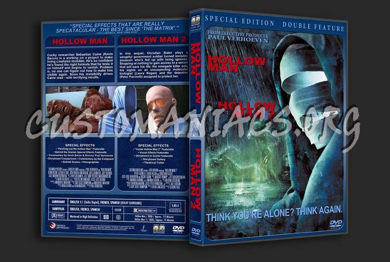 Hollow Man/Hollow Man 2 Double Feature dvd cover