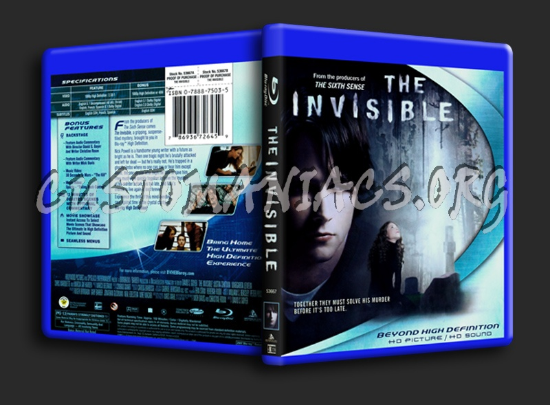The Invisible blu-ray cover