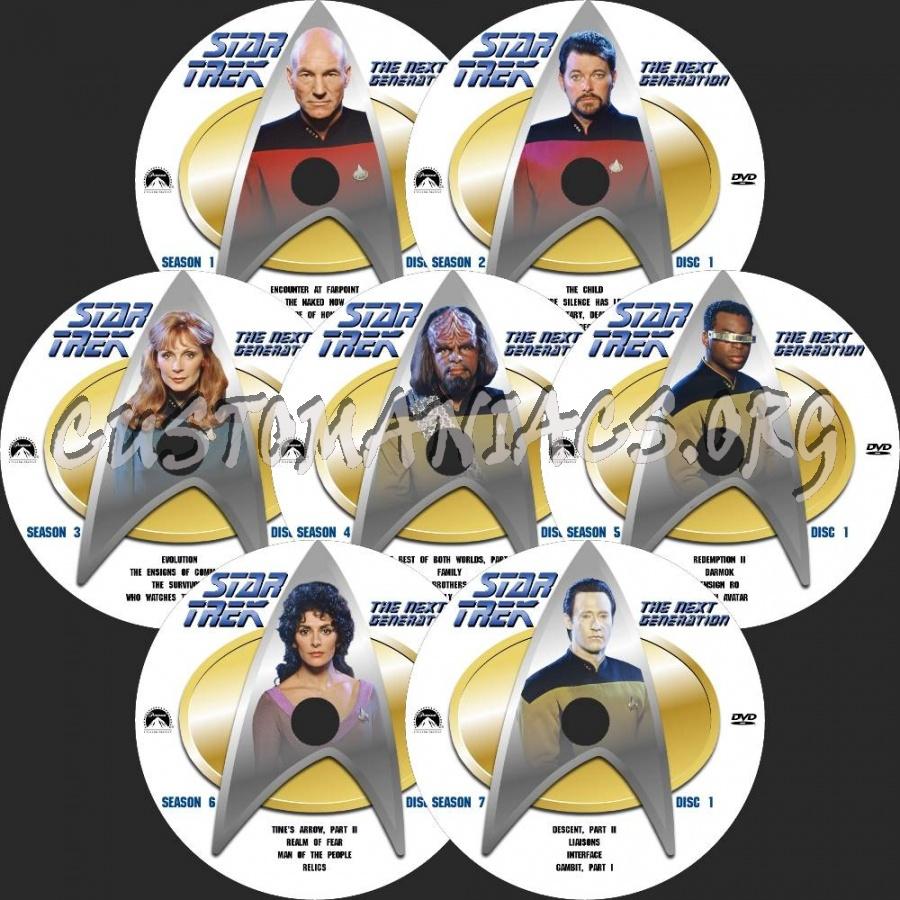 Star Trek: The Next Generation dvd label