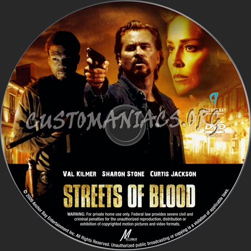 Streets Of Blood dvd label