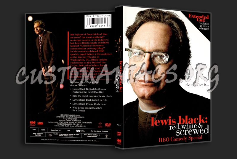 Lewis Black Red White and Screwed dvd cover