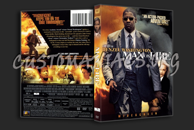 Man On Fire dvd cover