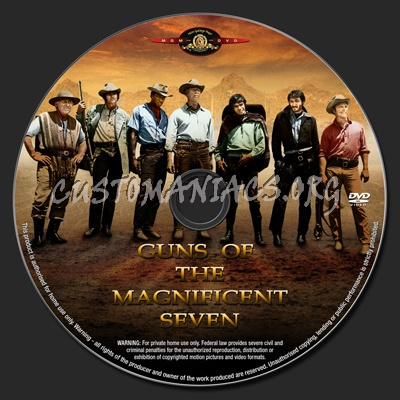 Guns Of The Magnificent Seven dvd label