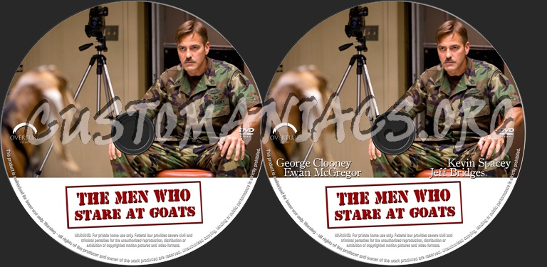 The Men Who Stare At Goats Dvd Label