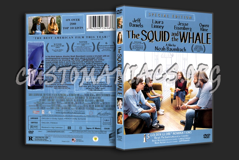 The Squid and the Whale dvd cover