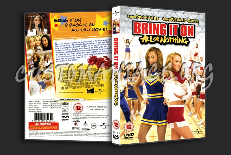 Bring It On 3 - All or Nothing dvd cover