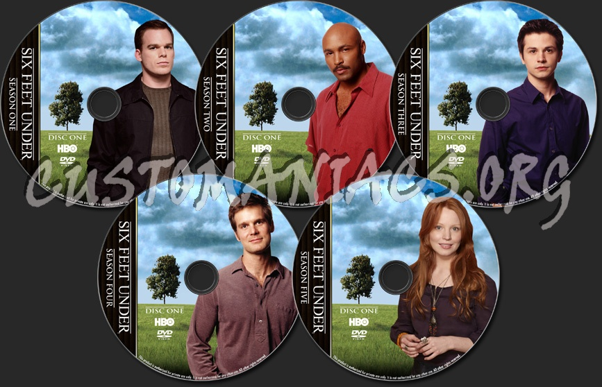 Six Feet Under Tv Show: TV Collection Dvd Label