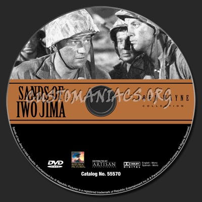 Sands of Iwo Jima dvd label