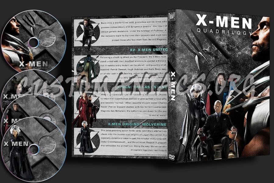 X Men Dvd Cover: X Men : Quadrilogy Dvd Cover