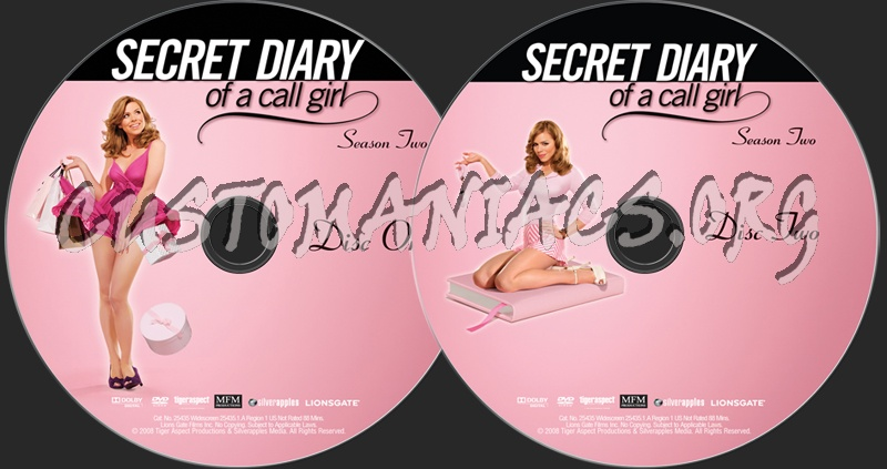 Secret Diary of a Call Girl Season 2 dvd label
