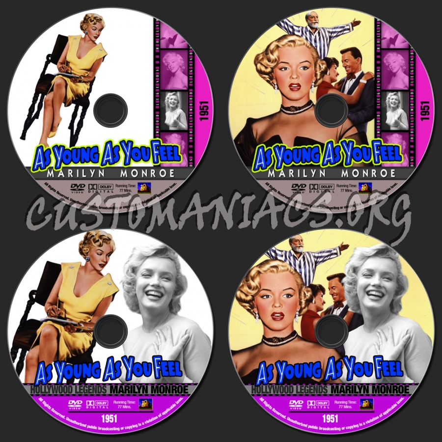 Marilyn Monroe Collection - As Young As You Feel dvd label