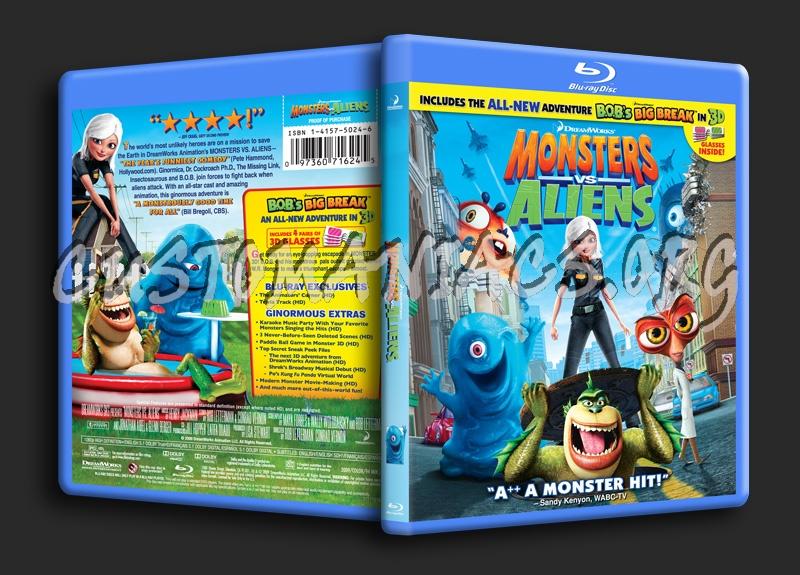 Monsters vs Aliens blu-ray cover