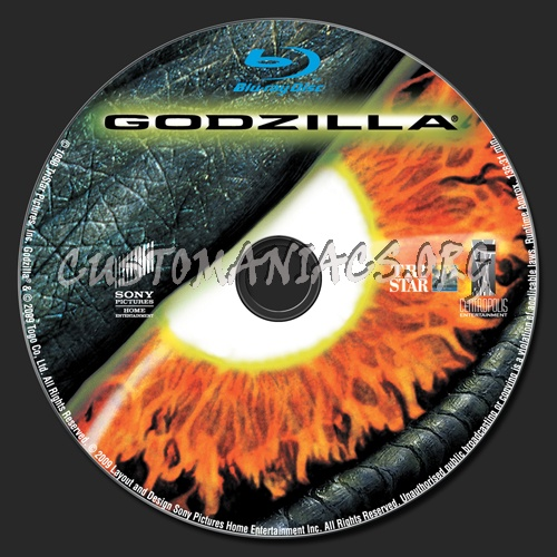 Godzilla blu-ray label