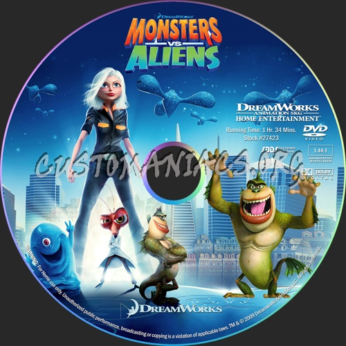 Monsters vs Aliens dvd label - DVD Covers & Labels by ...