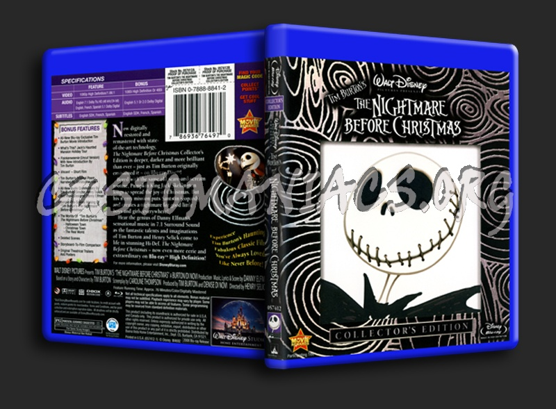 The Nightmare Before Christmas blu-ray cover