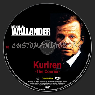 Wallander 16 The Courier dvd label