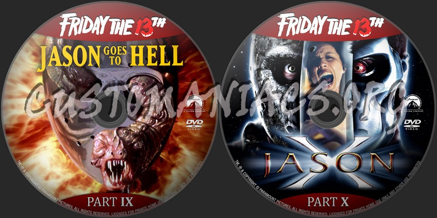 Friday The 13th Collection IX-X dvd label