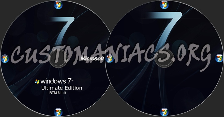 Windows 7 Ultimate RTM 64bit dvd label