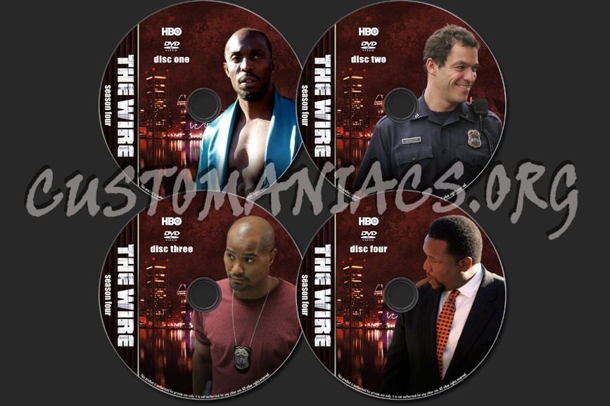 The Wire - TV Collection dvd label