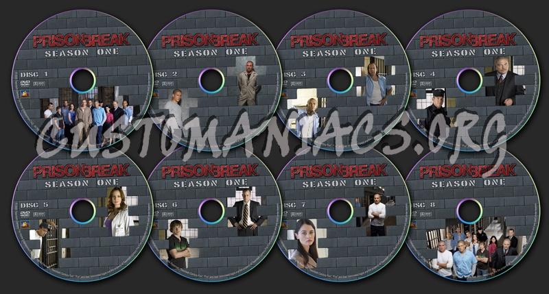 Prison Break - Season 1 dvd label