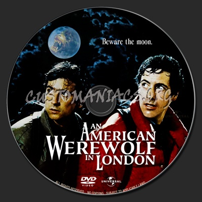 An American Werewolf In London dvd label