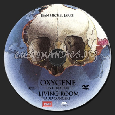 Jean Michel Jarre Oxygene Live In Your Living Room Dvd Label Dvd Covers Labels By