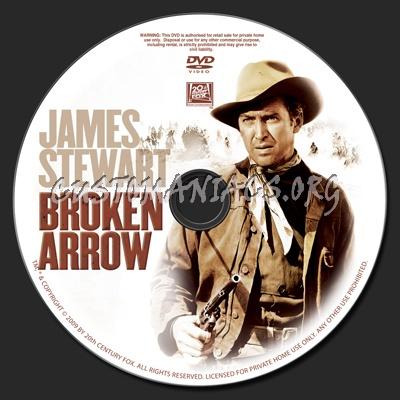 Broken Arrow 1950 dvd label