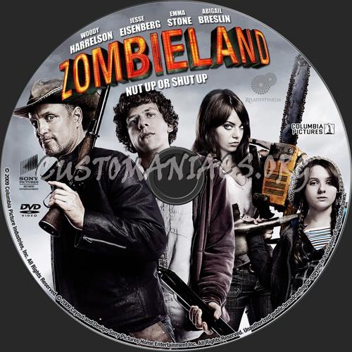 Zombieland dvd label