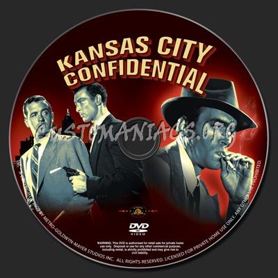 Kansas City Confidential dvd label