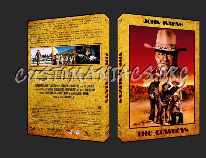 Western Collection The Cowboys 1971 dvd cover