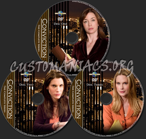 Conviction - TV Collection dvd label