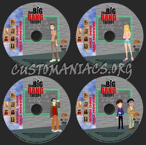 The Big Bang Theory - Season 2 dvd label