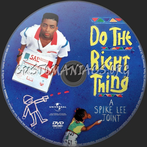 Do The Right Thing dvd label