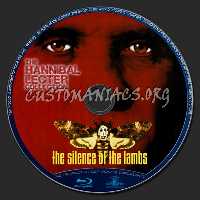 The Hannibal Lecter Collection : The Silence Of The Lambs blu-ray label