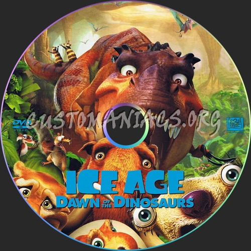 Ice Age: Dawn of the Dinosaurs dvd label