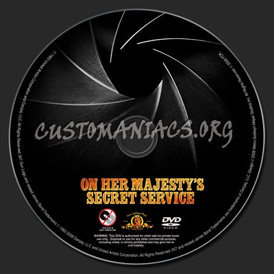 On Her Majesty's Secret Service dvd label