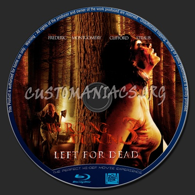 Wrong Turn 3 : Left For Dead blu-ray label