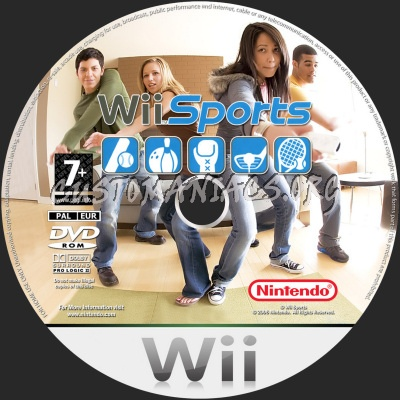 Wii Sports dvd label