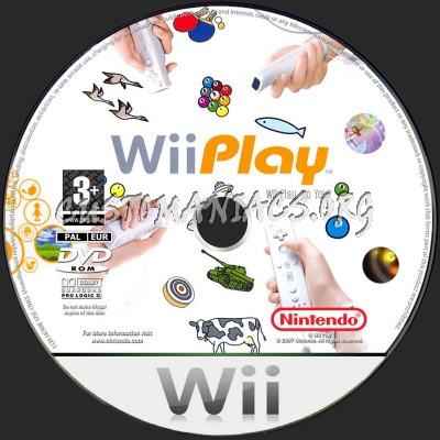 Wii Play dvd label