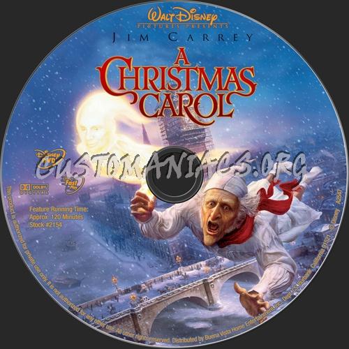 A Christmas Carol dvd label
