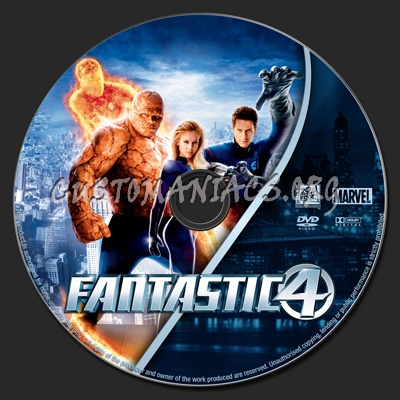Fantastic Four dvd label