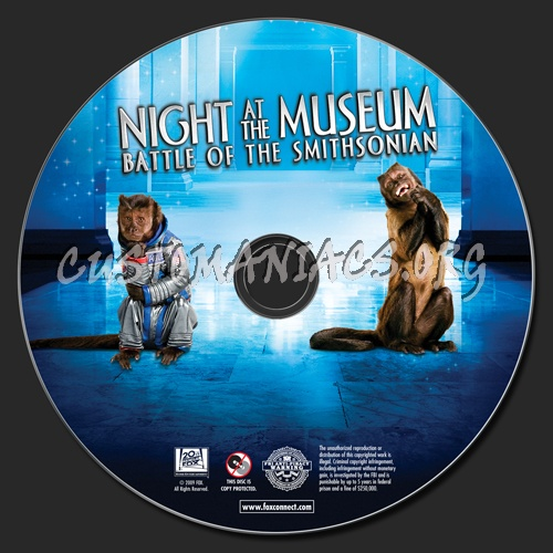 Night at the Museum 2 dvd label