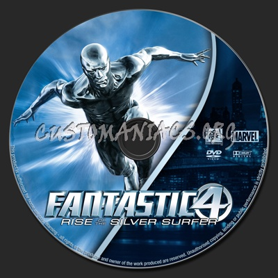 Fantastic Four: Rise of the Silver Surfer dvd label