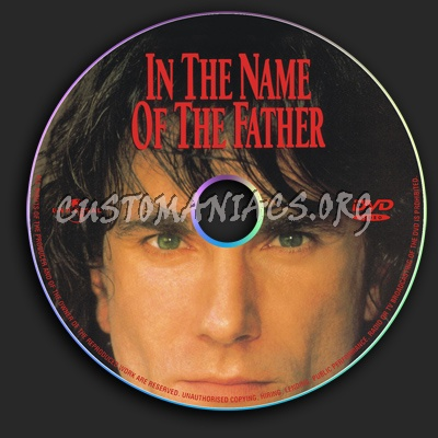 In The Name Of The Father dvd label