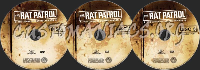 The Rat Patrol Season 2 dvd label