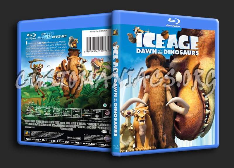 Ice Age: Dawn of the Dinosaurs blu-ray cover